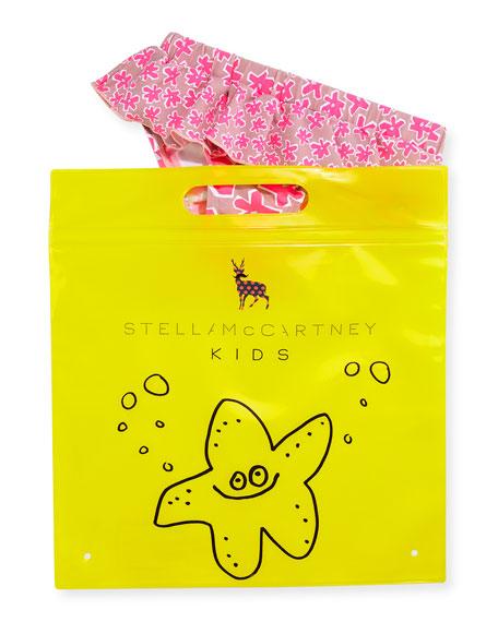 Stella McCartney Skirted Daisy Swim Bottoms, Pink, Size