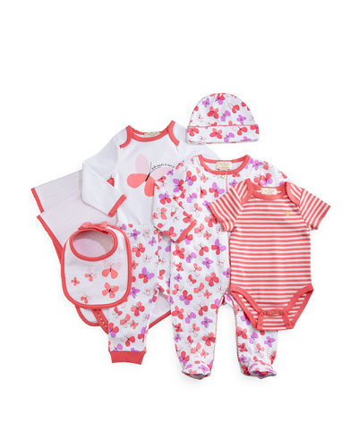 7-Piece Butterfly Gift Set, Pink, Size 3-9 Months