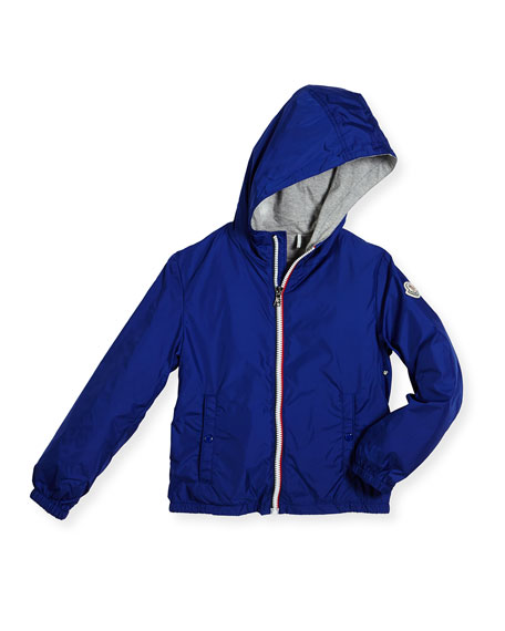 New Urville Zip-Front Raincoat, Size 4-6