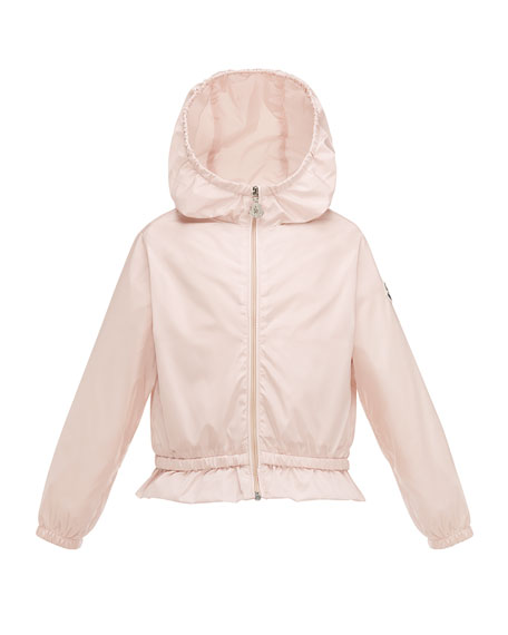 Moncler Camelien Short Hooded Lightweight Jacket, Pink, Size
