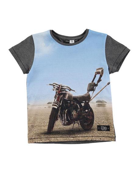 Runi Scorpion Bike Jersey Tee, Gray, Size 4-12