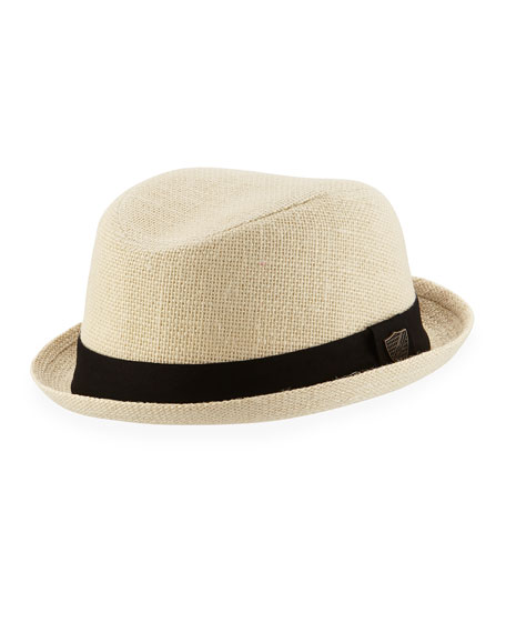 Fore Boys' Linen Trilby Hat, Beige