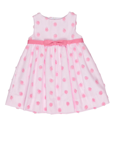 Sleeveless Tulle Rosette Dress, Pink, Size 6-24 Months