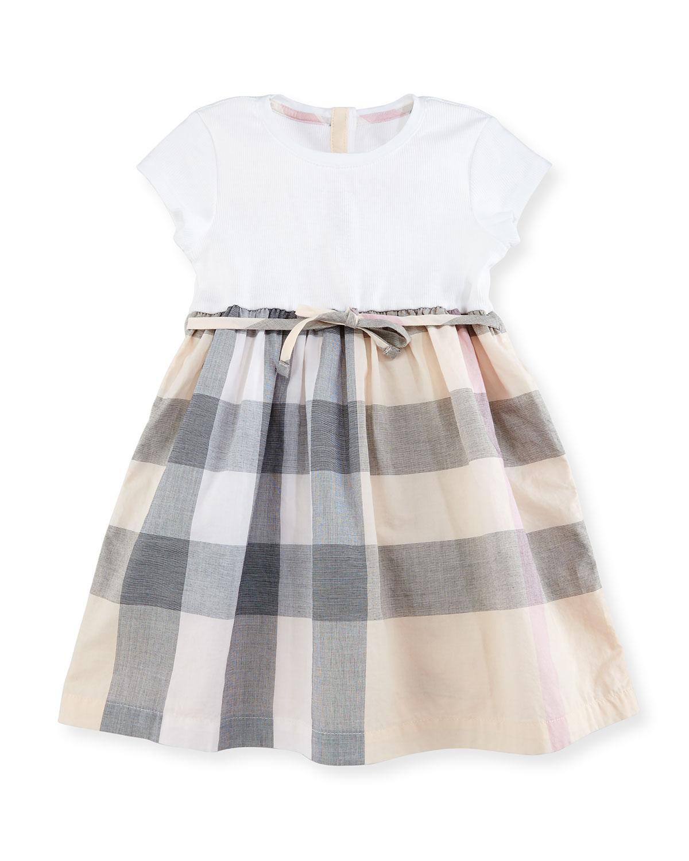4908ede7699cd Burberry Mini Rosey Combo Dress