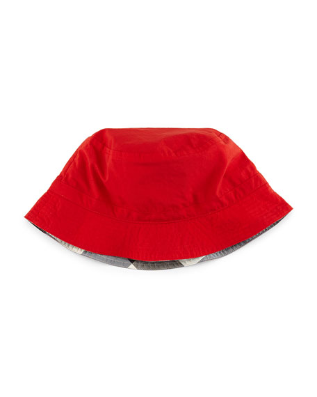 Burberry Girls' Channing Twill Bucket Hat, Red
