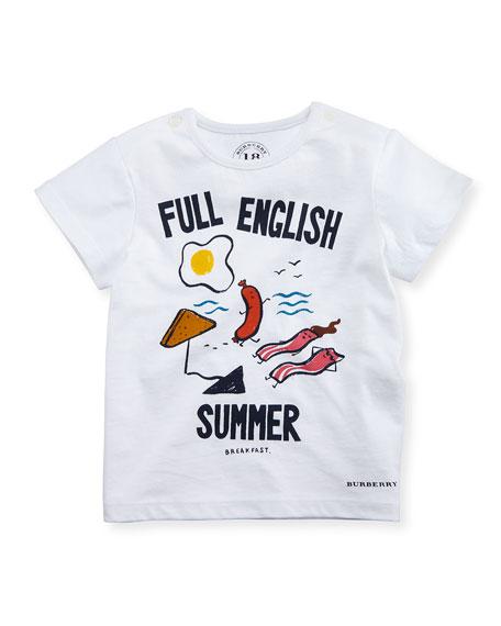Burberry Full English Summer Tee, White, Infant/Toddler