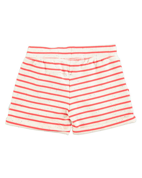 Ara Striped Melange Shorts, Red/White, Size 2T-12