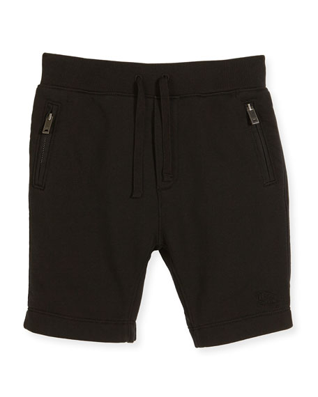 Burberry Monty Jersey Bermuda Shorts, Black, Size 4-14