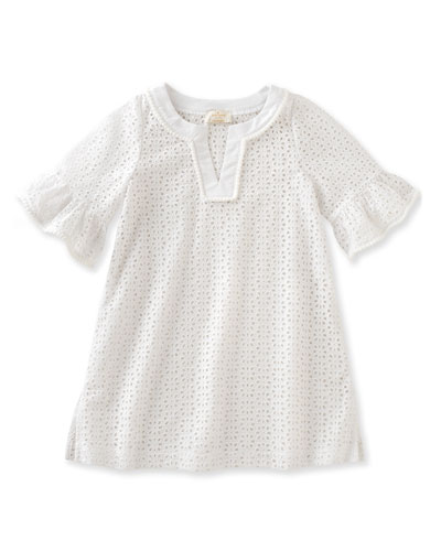 cotton eyelet coverup, white, size 7-14