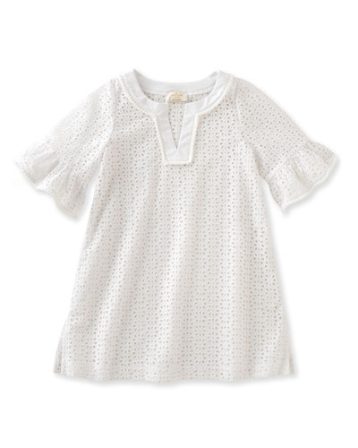cotton eyelet coverup, white, size 2-6