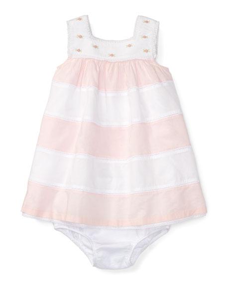 Ralph Lauren Childrenswear Sleeveless Striped Voile Dress w/