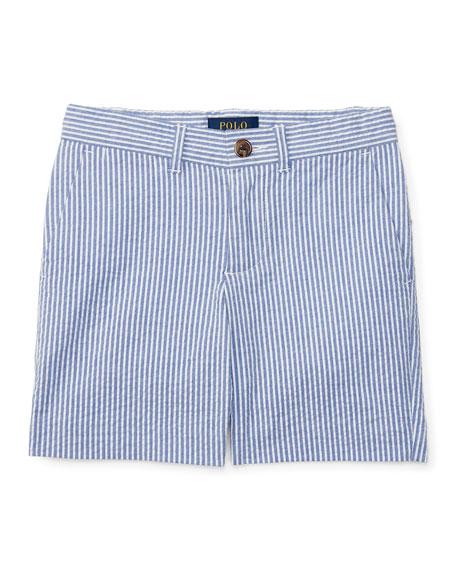 Ralph Lauren Childrenswear Striped Stretch Seersucker Shorts,