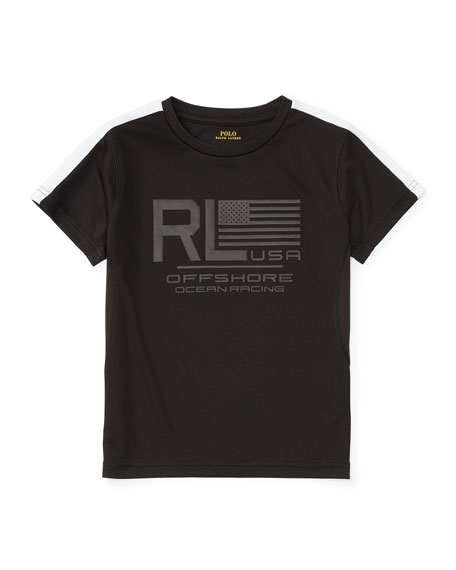 Ralph Lauren Childrenswear Short-Sleeve Mesh Performance Tee,