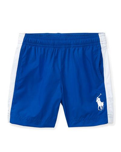 Lightweight Athletic Drawstring Shorts, Polo Blue, Size 5-7