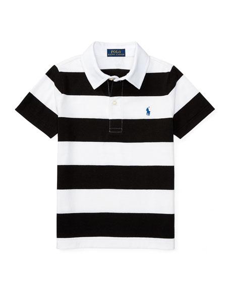 Ralph Lauren Childrenswear Striped Jersey Polo Shirt, Polo