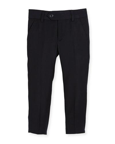 Straight-Leg Suit Pants  Navy  Size 2-14