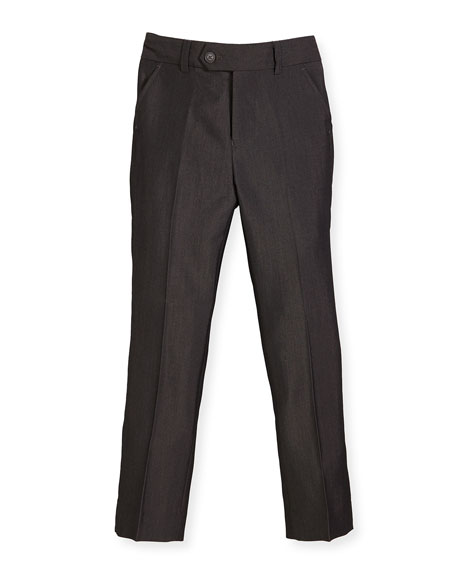 Appaman Slim Suit Pants, Charcoal, Size 4-14