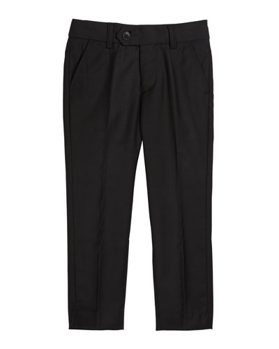 Slim Suit Pants, Black, Size 4-14