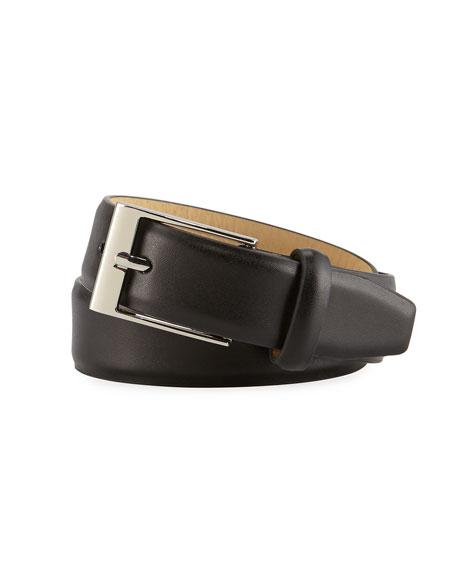 Appaman Boys' Faux-Leather Dress Belt, Black, S-L