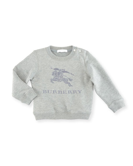 Burberry Boys' Mini Tom Logo Embroidery Sweatshirt, Size