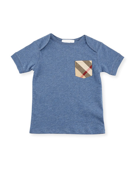 Burberry Callum Short-Sleeve Jersey Tee, Size 6M-3Y