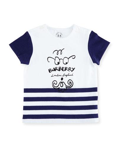 Boys' Mini Finn Logo T-Shirt, Size 6M-3Y