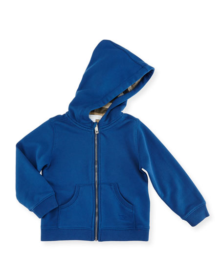 Pearce Hooded Fleece-Lined Sweater, Size 6M-3Y