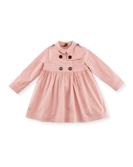 Lillybeth Double-Breasted Coat, Rose, Size 12M-3Y