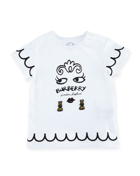 Burberry Girls' Mini Fiona Logo Graphic T-Shirt, Size