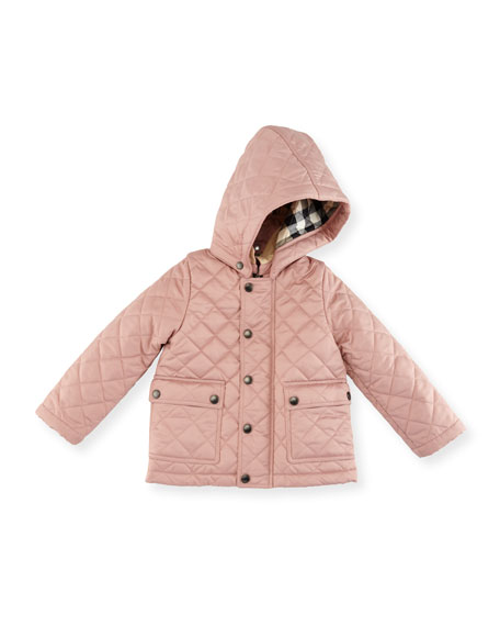 Jamie Quilted Hooded Jacket, Size 6M-3Y