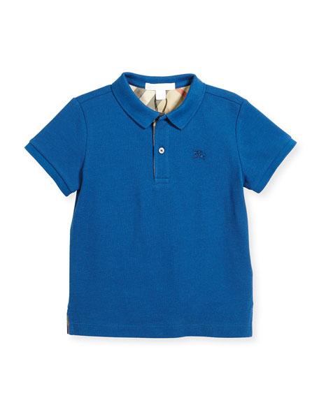 Burberry Boys' Cotton Polo, Blue, Size 4-14