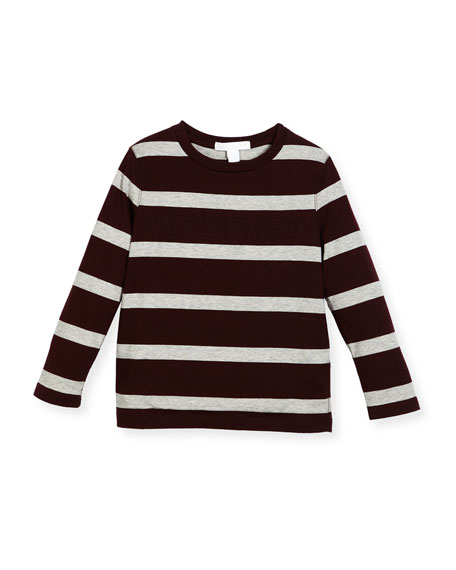 Graham Long-Sleeve Striped T-Shirt, Size 4-10
