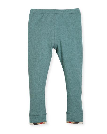 Penny Stretch Jersey Leggings, Green, Size 4-14
