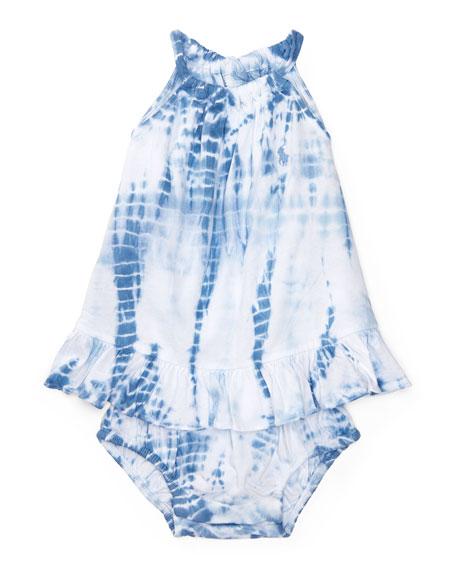 Ralph Lauren Childrenswear Sleeveless Tie-Dye Jersey Playsuit,