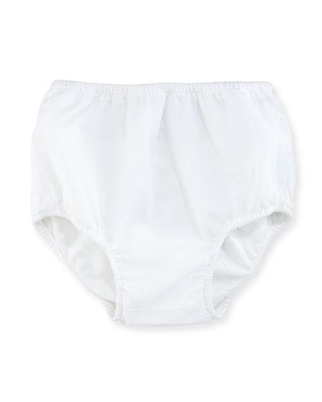 Sleeveless Cotton Batiste Sundress w/ Bloomers, White, Size 9-24 Months