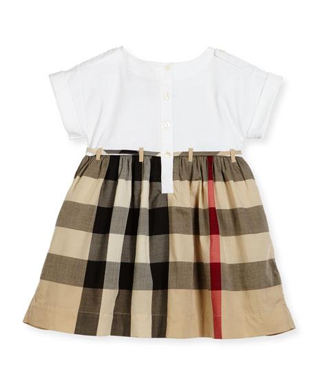 Rhonda 1 Jersey & Check Poplin Dress, Size 4-14