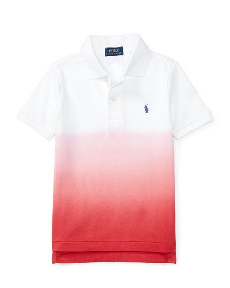 Ralph Lauren Childrenswear Basic Mesh Dip-Dye Polo Shirt,