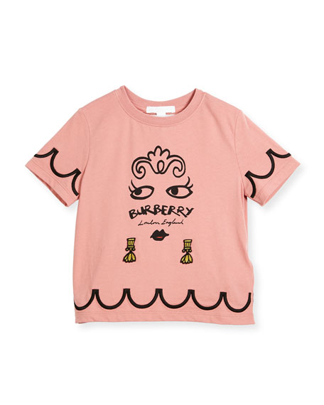 Burberry Girls' Fiona Logo Graphic T-Shirt, Size 4-14