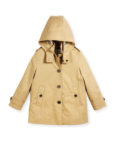 Geri Hooded Trenchcoat, Size 4