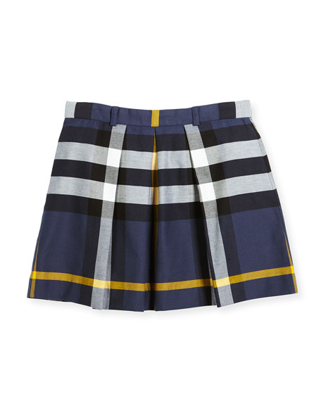 Burberry Kittie Check Skirt, Size 4-14