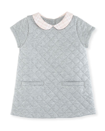 Taryn Collared Quilted Shift Dress, Size 3M-2Y