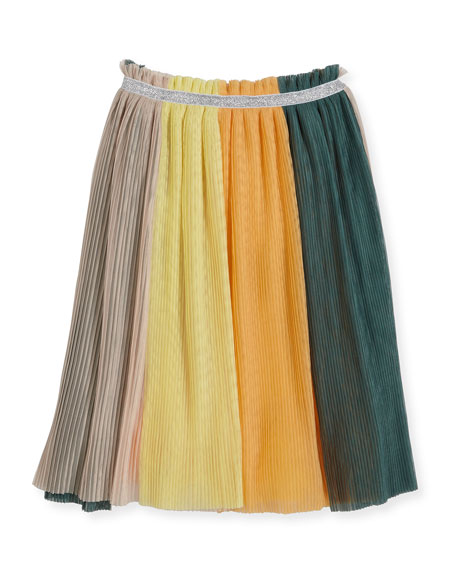 Molo Brook Tulle Rainbow Skirt, Multicolor, Size 3T-14