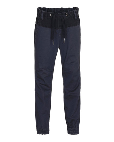 Molo Arctic Two-Tone Chambray Pants, Navy, Size 4-12