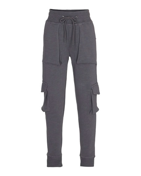 Afton Soft Lounge Cargo Pants, Gray, Size 4-12