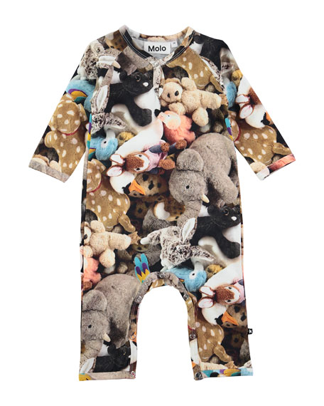 Molo Fiona Friends Forever Stretch Jersey Coverall, Multicolor,