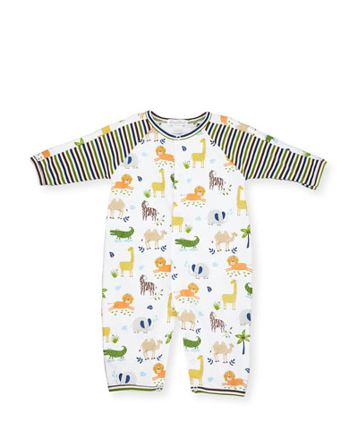 Jungle Jaunt Pima Coverall, Multicolor, Size 9-24 Months