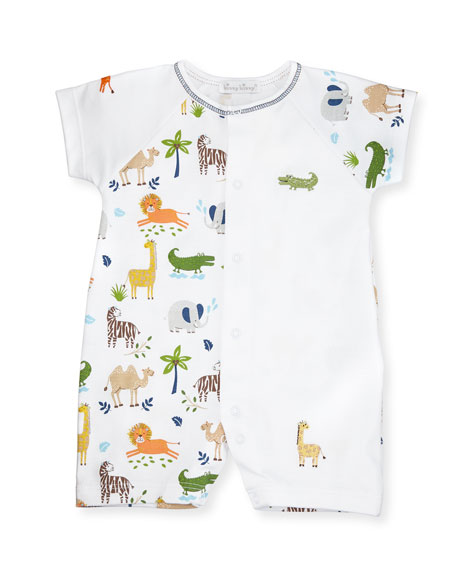 Kissy Kissy Jungle Jaunt Raglan Pima Shortall, Navy/White,