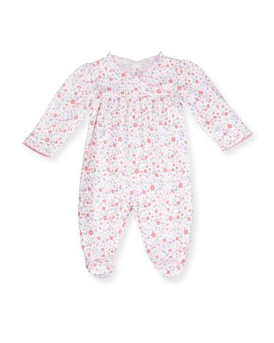 Fall Blossoms Pima Footie Pajamas, Pink, Size Newborn-9 Months