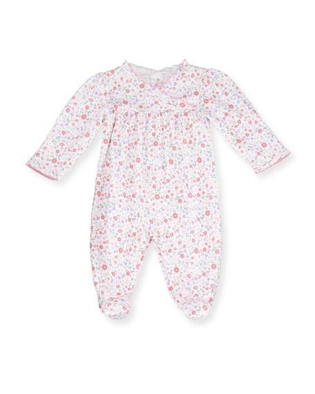 Kissy Kissy Fall Blossoms Pima Footie Pajamas, Pink,