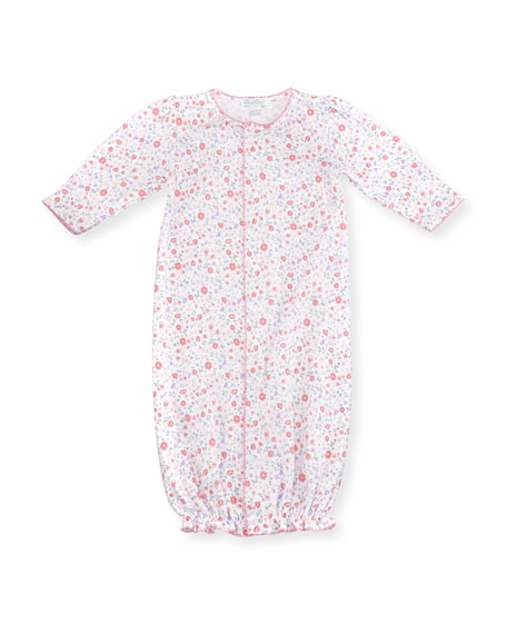 Kissy Kissy Fall Blossoms Pima Footie Pajamas, Pink,